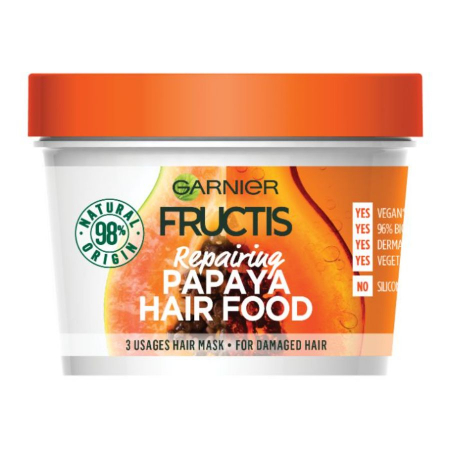 Masca Papaya pentru parul deteriorat Fructis Hair Food, 390 ml