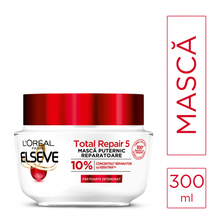 Masca pentru parul deteriorat Elseve Total Repair 5 - 300ml [1]