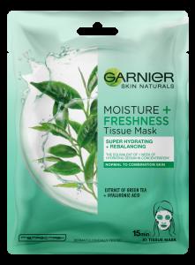 Set 10x Masca Servetel Garnier Moisture+ cu ceai verde, pentru reimprospatare [1]