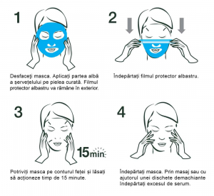 Masca Servetel Garnier Moisture+ cu rodie, pentru hidratare intensa [4]