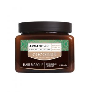Masca pentru par subtire, deteriorat si casant cu ulei de cocos Arganicare, 500 ml