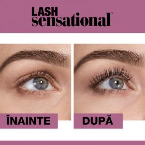Mascara efect gene evantai Maybelline New York Lash Sensational, Black, 9.5 ml [4]