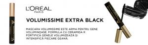 Mascara  L'Oreal Paris Volumissime, pentru volum, extra black, 7.5ml [3]