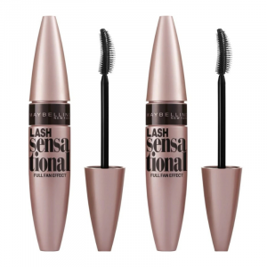 Set 2x Mascara Maybelline efect gene evantai Lash Sensational, Black, 9.5 ml OLD0