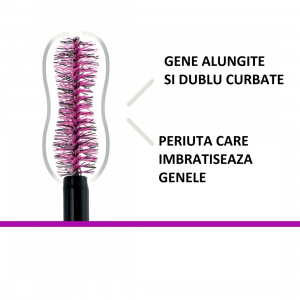 Set 2x Mascara Maybelline Falsies Lash, pentru efect de gene false, black -9.6ml [3]