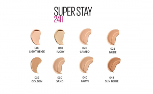 Fond de ten Maybelline SuperStay 24H, 48 Sun Beige4