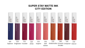 Ruj lichid mat Maybelline Superstay Matte Ink, 130 Selfstarter 5ml4