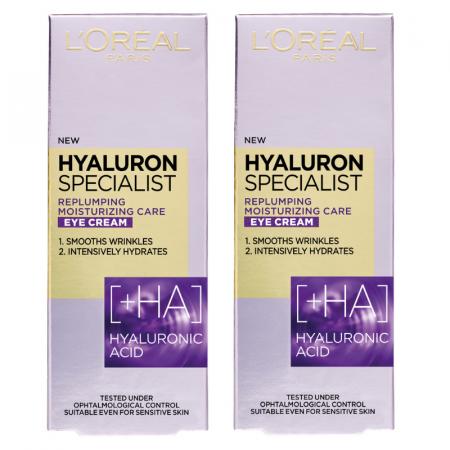 Crema de ochi antirid hidratanta L'Oreal Paris Hyaluron Specialist, 15 ml [0]