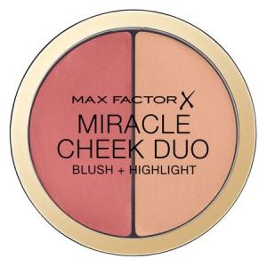 Paleta pentru pometi Max Factor Miracle Cheek Duo, 20 Brown Peach & Champagne, 11 g0