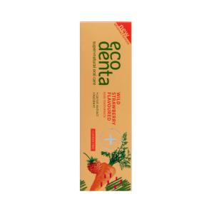 Pasta de dinti pentru copii cu aroma de capsuni si morcov Ecodenta 75ml2