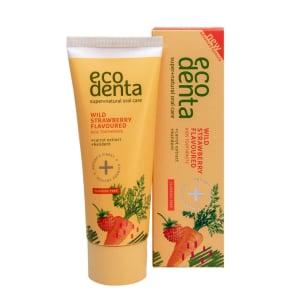 Pasta de dinti pentru copii cu aroma de capsuni si morcov Ecodenta 75ml1