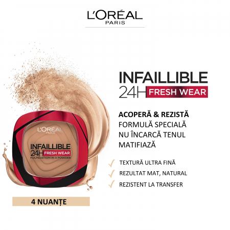 Pudra Compacta Infaillible 24H Fresh Wear Powder 130 True Beige [7]