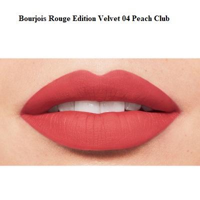 Ruj de buze cu efect matifiant Bourjois Rouge Edition Velvet No.04 Peach Club, 7.7ml [2]
