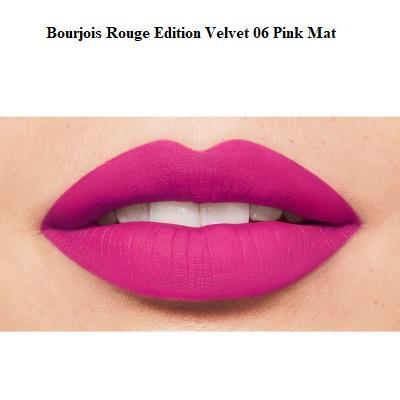 Ruj de buze cu efect matifiant Bourjois Rouge Edition Velvet No.06 Pink Pong, 7.7ml [2]