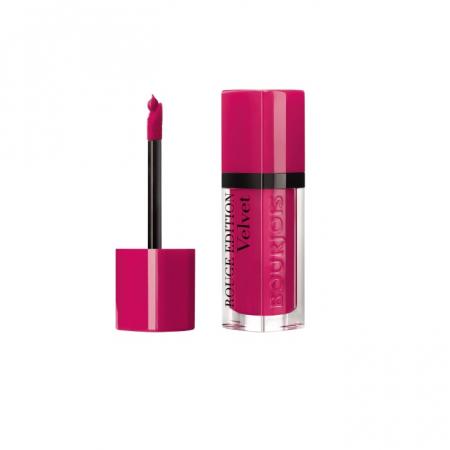 Ruj de buze cu efect matifiant Bourjois Rouge Edition Velvet No.06 Pink Pong, 7.7ml [1]