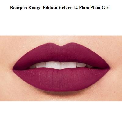 Ruj de buze cu efect matifiant Bourjois Rouge Edition Velvet No.14 Plum Plum Girl, 7.7ml [2]