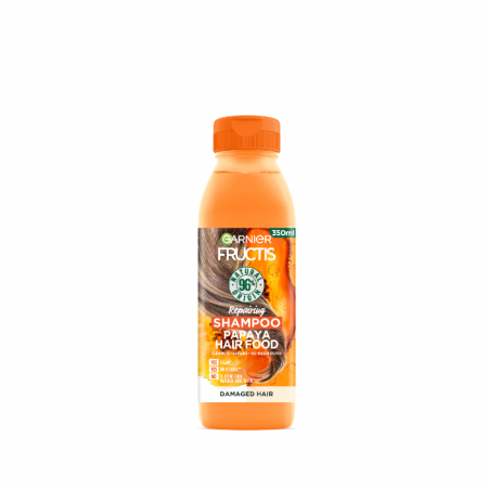 Sampon Papaya pentru parul deteriorat Fructis Hair Food, 350 ml
