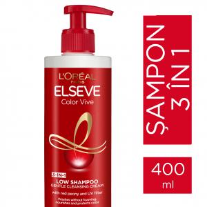 Sampon pentru par colorat Elseve Low Shampoo Color Vive, 400ml1