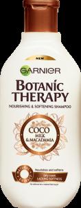SET 1+1 GRATUIT Sampon pentru par uscat lipsit de suplete Garnier Botanic Therapy COCO MILK & MACADAMIA 400 ML