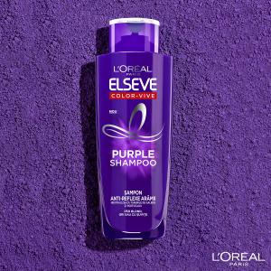 Set 2x Sampon pentru parul blond/gri Elseve Purple Shampoo 200 ml [6]
