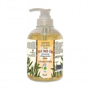 Sapun lichid vegetal hidratant cu ulei din arbore de ceai si ulei de neem La Dispensa 300 ml [0]
