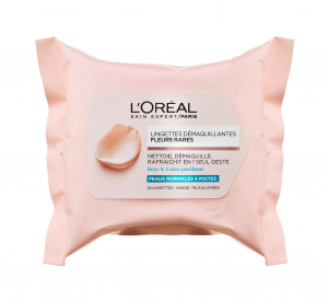 Servetele demachiante L`Oreal Paris Rare Flowers pentru ten normal și mixt 25 buc