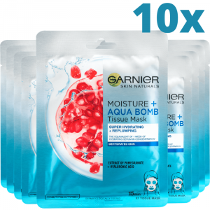 Pachet 10x Masca Servetel Garnier Moisture+ cu rodie, pentru hidratare intensa [0]