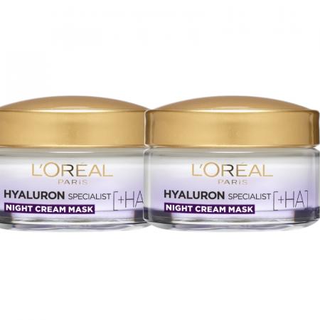 Set 2x Crema de noapte antirid hidratanta Hyaluron Specialist, pentru volumul tenului 50ml [0]
