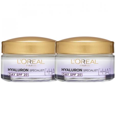 Set 2x Crema de zi antirid hidratanta Hyaluron Specialist, pentru volumul tenului, SPF 20 [0]