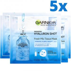 Set 5x Masti servetel Fresh-Mix cu acid hialuronic pentru hidratare, 5x33g [0]