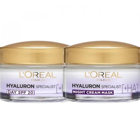 Set Hyaluron Specialist Crema de zi + Crema de noapte antirid hidratanta, 50 ml [0]