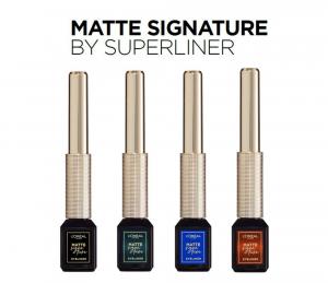 SET 1+1 GRATUIT Tus de ochi lichid waterproof L`Oreal Paris Matte Signature by SuperLiner3