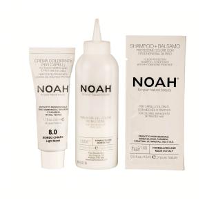 Vopsea de par naturala Blond deschis8.0 Noah 140 ml1