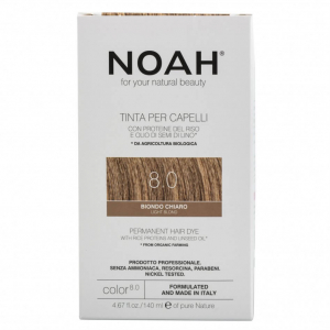 Vopsea de par naturala Blond deschis8.0 Noah 140 ml0