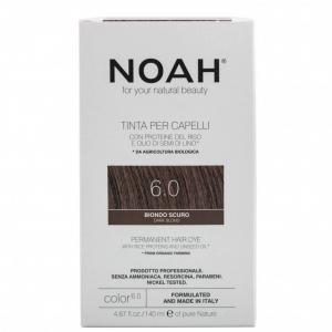 Vopsea de par naturalaBlond inchis 6.0Noah 140 ml [0]