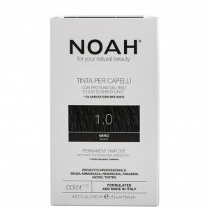 Vopsea de par naturala Negru 1.0 Noah 140 ml0