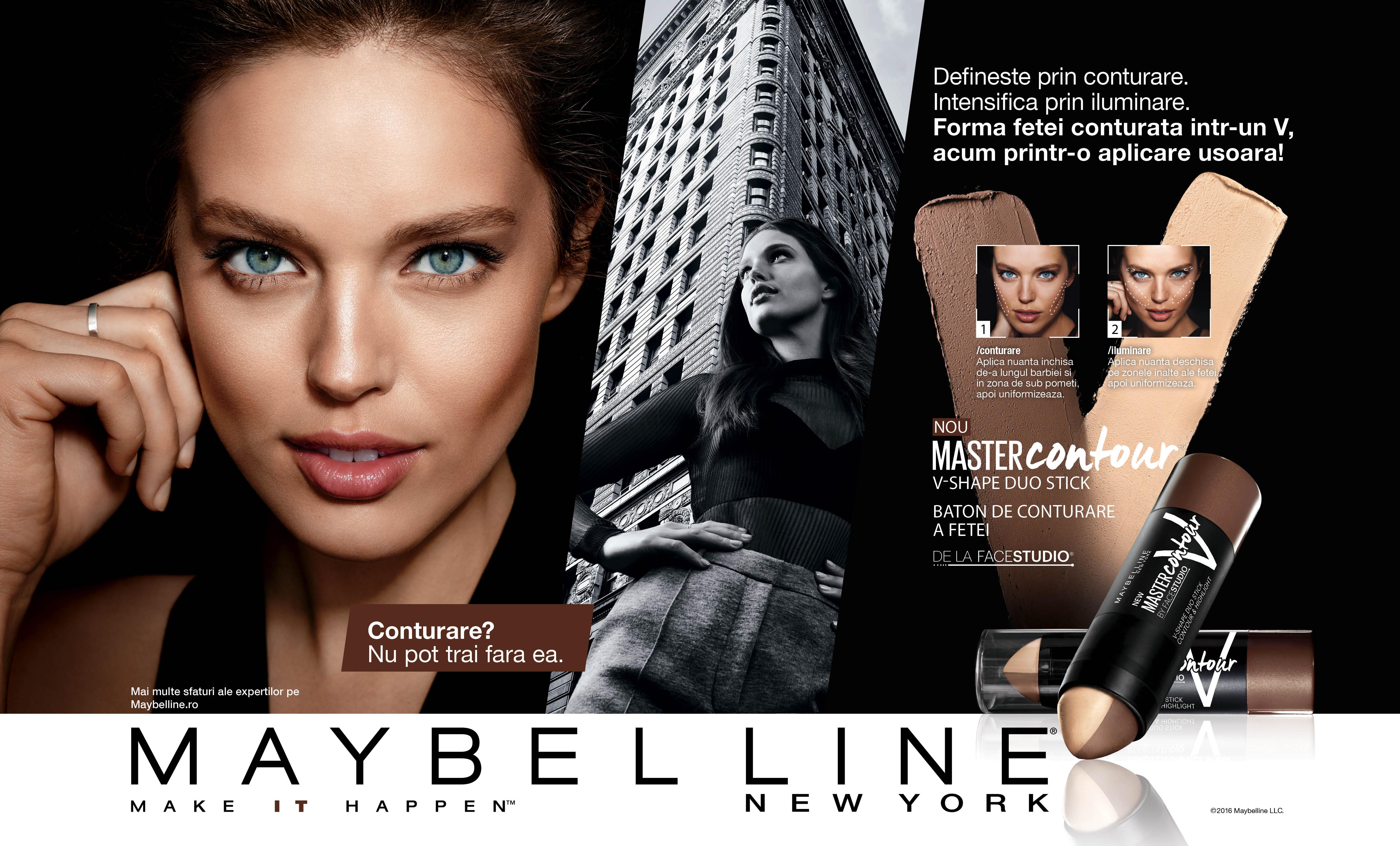 Baton de conturare a fetei Maybelline Master Contour V Shape Duo, 02 MEDIUM 3