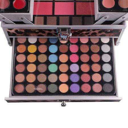 Trusa De Farduri Multifuncionala Miss Rose Makeup Kit - Animal Print 3