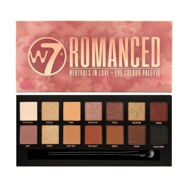 Paleta farduri W7 Romanced Neutrals In Love Eye Colour Palette, 14 culori, 9.6g 0