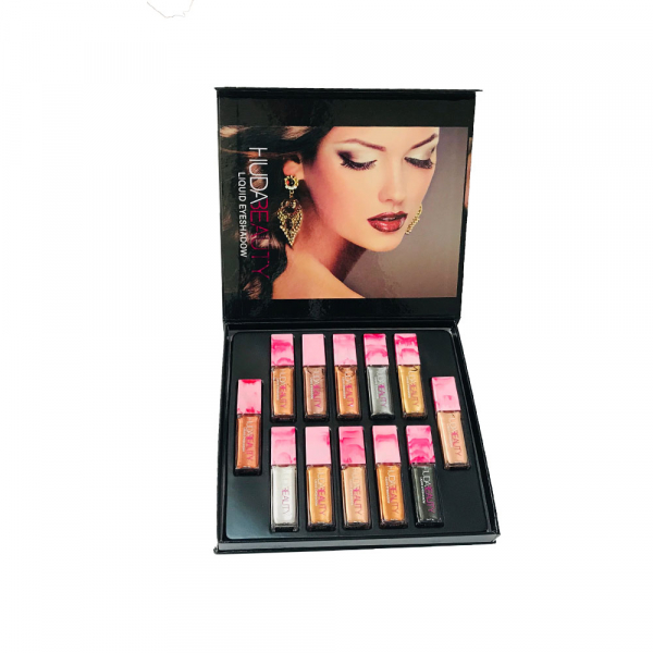 Set Cadou 12 Farduri Lichide Huda Beauty 0