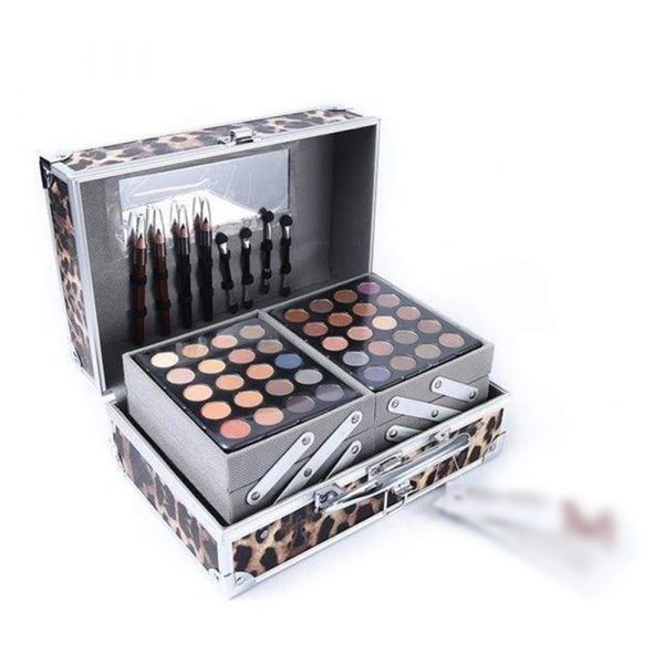 Trusa De Farduri Multifuncionala Miss Rose Makeup Kit - Animal Print 1