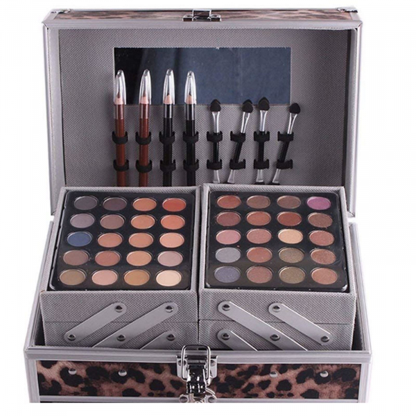 Trusa De Farduri Multifuncionala Miss Rose Makeup Kit - Animal Print 2