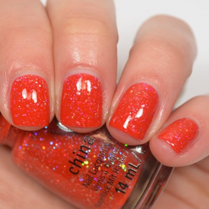 China Glaze Living in the Elmo-Ment 1