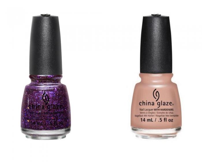 China Glaze Brand Sparkin' New Year + Sorry I'm Latte 0