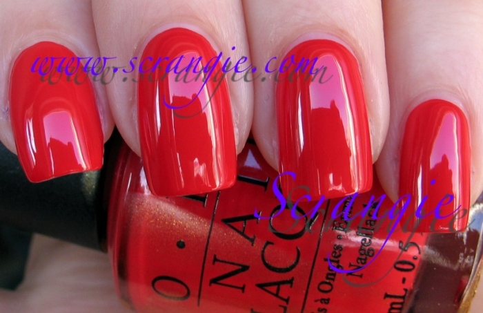 OPI Red My Fortune Cookie 1