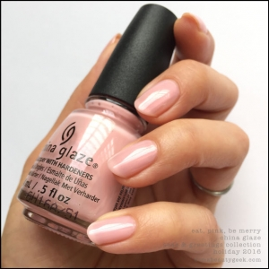 China Glaze Eat, Pink, Be Merry2