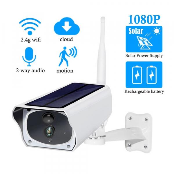 Cameră Wifi solară, impermeabilă, fără cabluri, Solar PRO Full HD 2 MP 1080p [3]