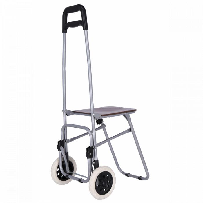 Carucior pentru cumparaturi , cu scaunel , Grunberg BF210 [3]