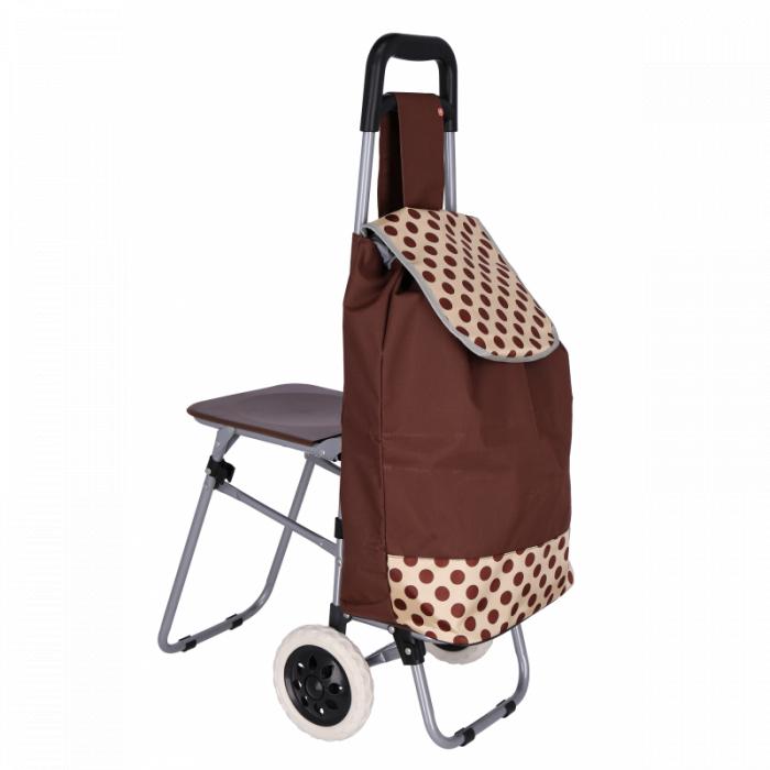 Carucior pentru cumparaturi , cu scaunel , Grunberg BF210 [0]