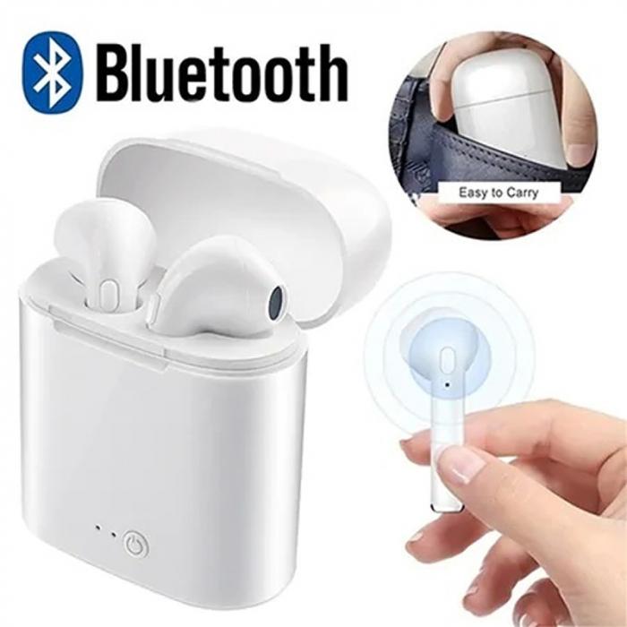 Casti wireless Bluetooth 5.0 i7s TWS - aspect elegant, sunet excelent [2]